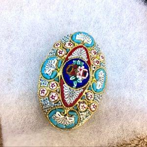 Mosaic glass pin 🌈